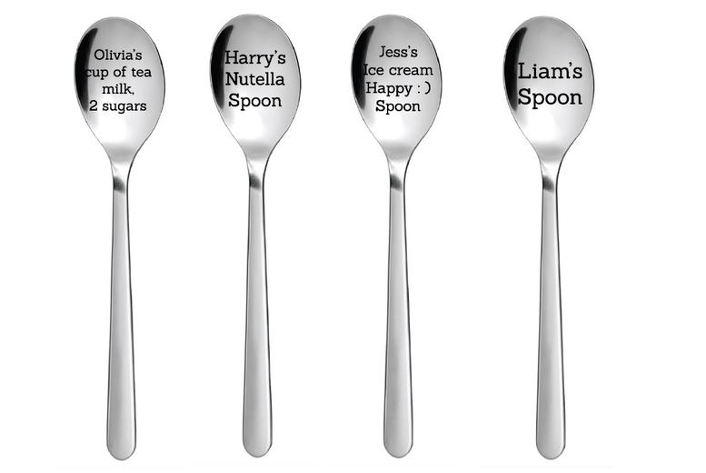 Image of £1 instead of £14.99 for a personalised stainless steel teaspoon - up to 30 characters from Fab Deco Ltd - Deco Matters - save 93%