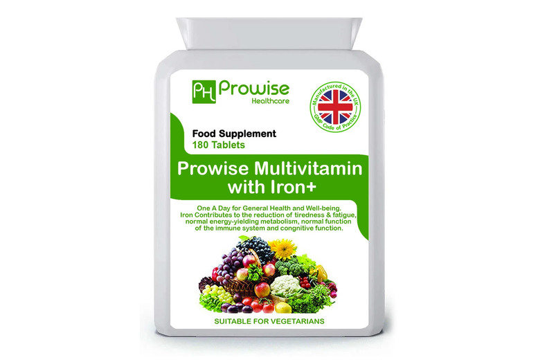 ?8.99 for a six-month* supply of multivits and iron+ supplements from Prowise!