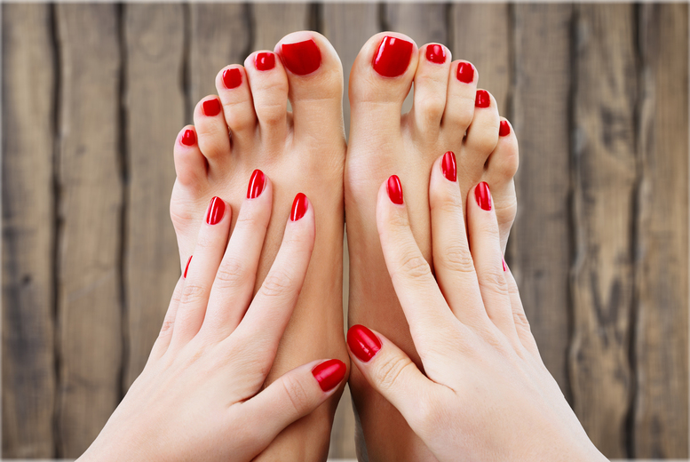 ?10 for the choice of a manicure or pedicure with polish at Parlour Boutique & Beauty Clinic, Greater Manchester or ?19 for both a manicure and pedicure - save up to 44%