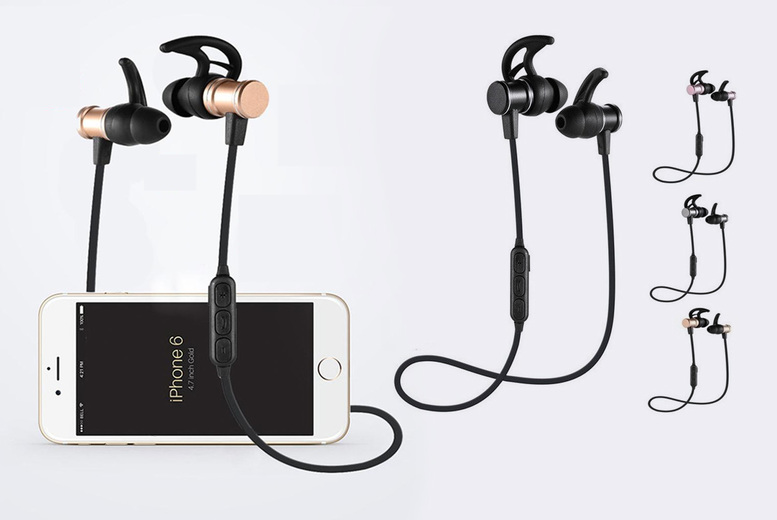 ?8.99 instead of ?39.99 for a pair of wireless Bluetooth earphones in rose gold, black, gold or silver from Pinkpree - save 78%