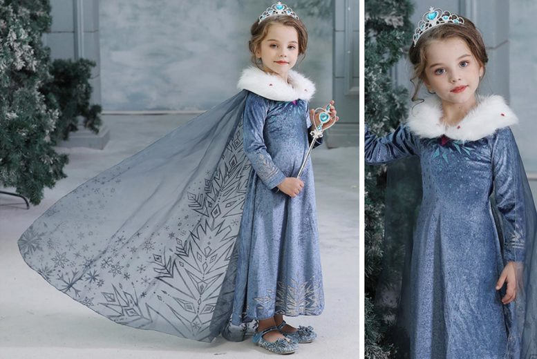 Image of £14.99 instead of £39.99 for a children's princess snowflake dress from Mybrandlogic! - Save 60%