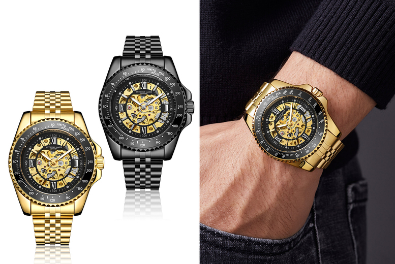 Image of £29.99 instead of £655 for an Anthony James limited edition luxury automatic watch from Timepieces - save 95%