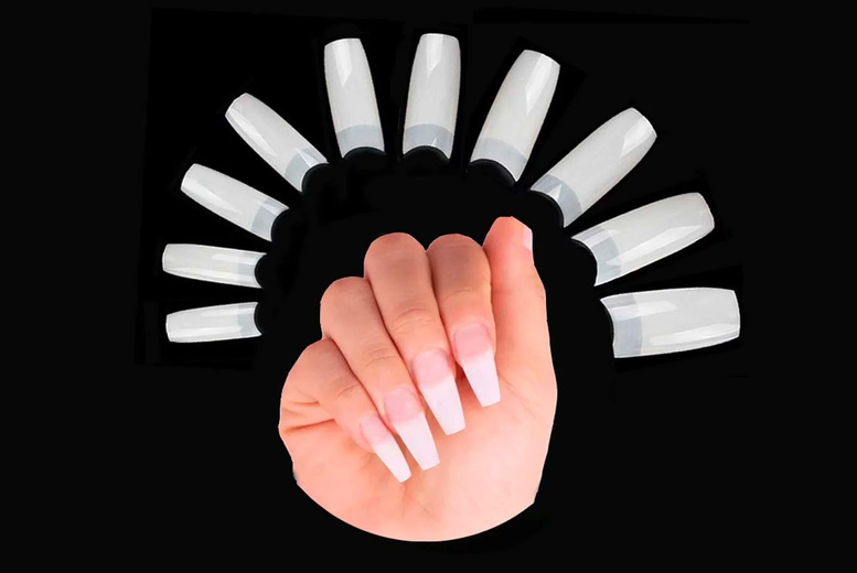 ?7.99 instead of ?15.99 for a pack of 500 natural false nail tips in French style from Buy Something - save 50%