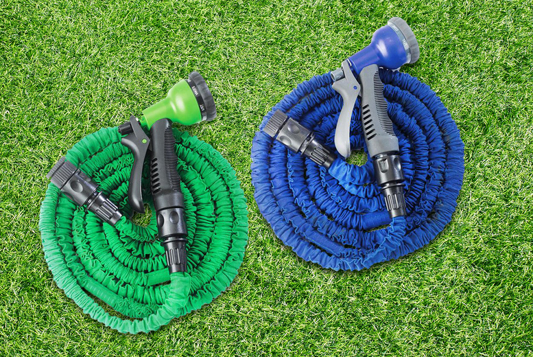 Image of £12.99 instead of £34.99 for a 75ft Eckman expanding garden hose or £16.99 for a 100ft garden hose from Personal Choice - save up to 63%