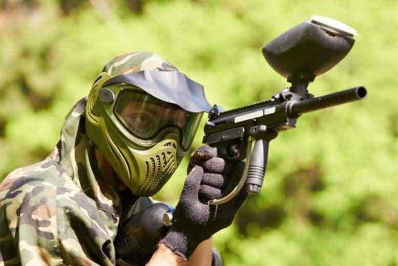 Image of £10 for a three-hour paintballing session for ten people including 100 paintballs each at Mayhem South East - choose from four locations and save 90%