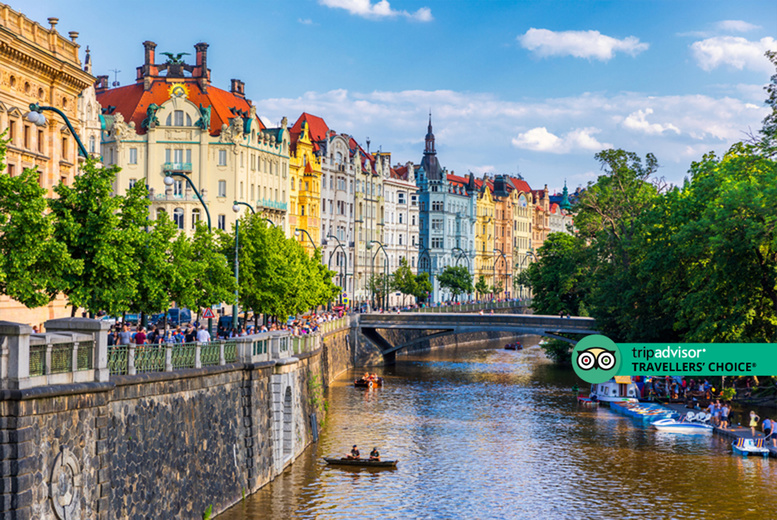 Image of A central Prague, Czech Republic hotel stay with breakfast and return flights from five airports. From £69pp for two nights, from £89pp for three nights, or from £99pp for four nights - save up to 51%