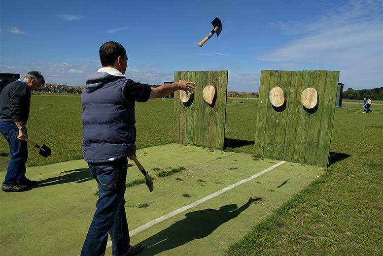 Image of £29 instead of £70 for a one-hour axe and knife-throwing experience for two people at Blyth Activity Centre, Nottinghamshire - save 59%