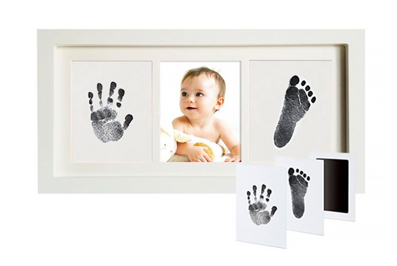 Image of £12.99 instead of £16 for a baby handprint or footprint touch ink pad from Secret Storz - save 19%