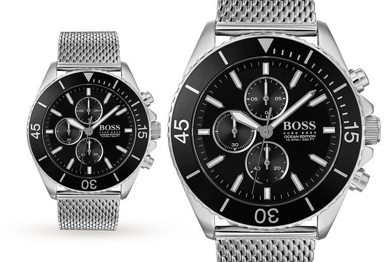 Image of £149 instead of £299 for a Hugo Boss 1513701 black ocean edition men's watch from Best Watch Company - save 50%