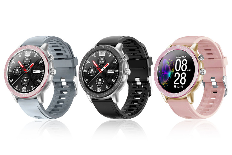 Image of £29.99 for a waterproof smart fitness tracker watch in black, silver and pink, silver and grey, silver and black or gold and pink from Wish Whoosh Offers