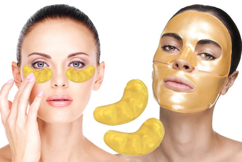 ?8.99 instead of ?79.97 for a 20pc gold collagen face & eye mask bundle from Forever Cosmetics - save 89%