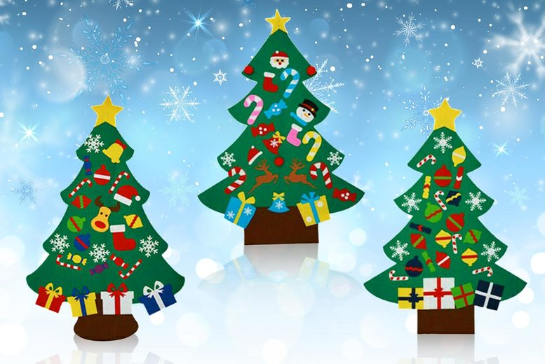 Image of £11 instead of £29.99 for a cone-shaped 3D felt Christmas tree from Arther Gold - save 63%