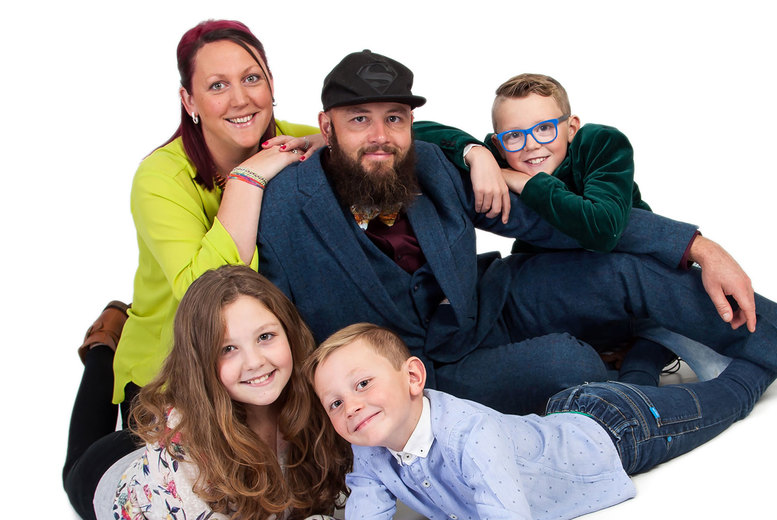 "Image of £9 instead of £91.60 for a one-hour family photoshoot at Image Solutions Photography, Swansea including an 8"" x 6"" framed print - save 90%"