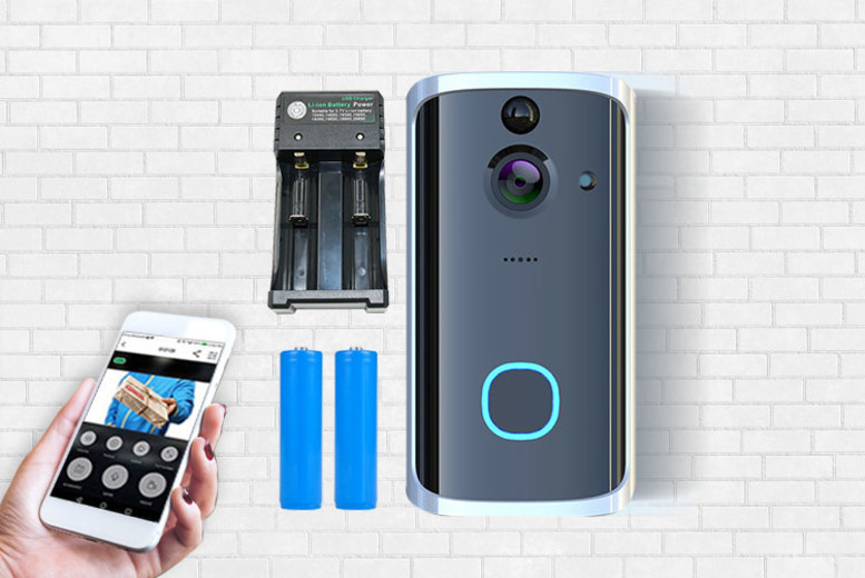 Image of £44 instead of £109.99 for a Next Gen smart security doorbell with two rechargeable batteries and charging pack from Maxwe - save 60%