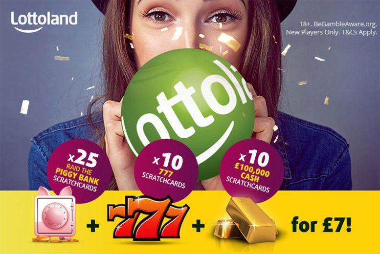 Image of £7 instead of £21.25 for 25 'PiggyBank' scratchcards, 10 '777' scratchcards and 10 '100k' scratchcards with Lottoland - save a super 67%