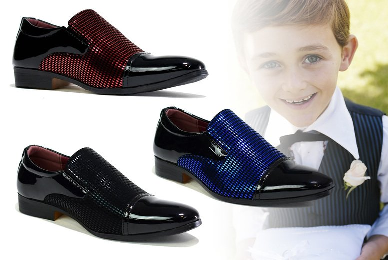 Image of £14.99 for a pair of boys' smart shoes in UK sizes 13-6 from Shoe Fest