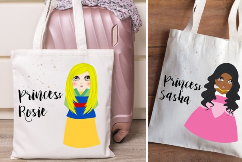 ?9 instead of ?34.99 for a personalised princess tote bag from Gallery SI Limited t/a Colour House - save 74%
