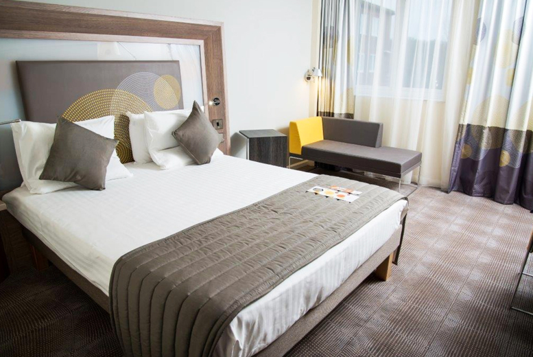Image of A Nottingham stay at 4* Hotel Novotel Nottingham Derby for two people with breakfast, a can of 20cl wine each, afternoon treat box and late checkout. £89 for one night - save up to 43%