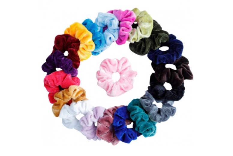 ?8.99 instead of ?19.99 for 20 multi-colour hair scrunchies from YelloGoods - save 55%