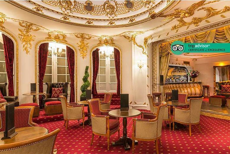Image of £39 instead of £95 for a traditional afternoon tea for two people with a bottle of champagne to share at Grand Royale London Hyde Park - indulge and save 59%