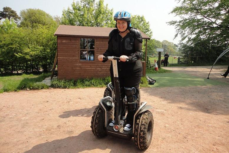 Image of £16 instead of £29.50 for a one-hour Segway obstacle course experience for one person at Madrenaline Activities, Heaton or £29 for two people - save up to 46%