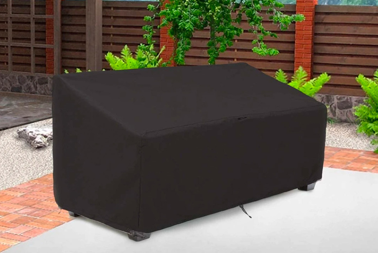 Image of From £9.99 instead of £39.99 for a two-seater waterproof outdoor furniture cover, choose from three sizes from Wishwhooshoffers - save up to 75%