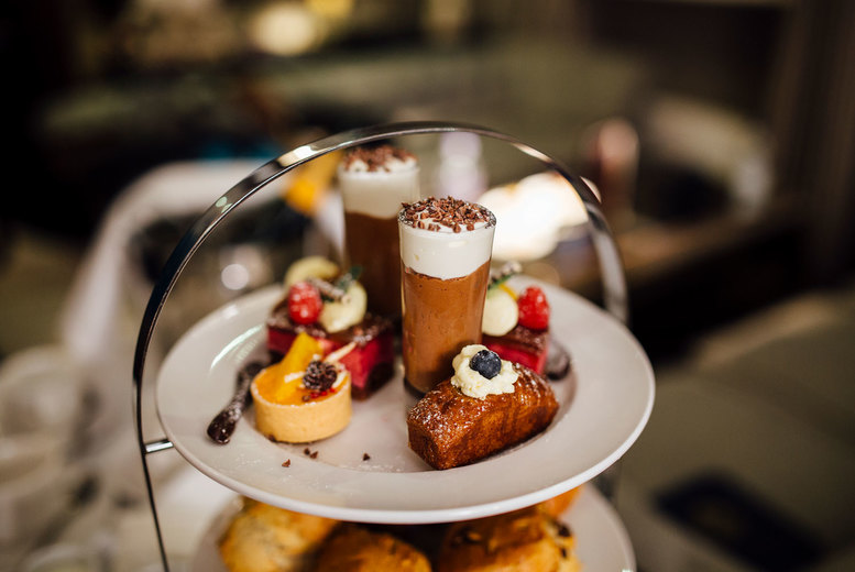 Image of £29 for a luxury Club Lounge afternoon tea for two people with a cocktail each at the 4* Crowne Plaza Manchester City Centre - enjoy mouthwatering food paired with a spectacular view
