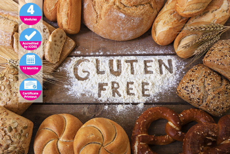 ?9 instead of ?99 for an online gluten-free cooking course from International Open Academy - save 91%