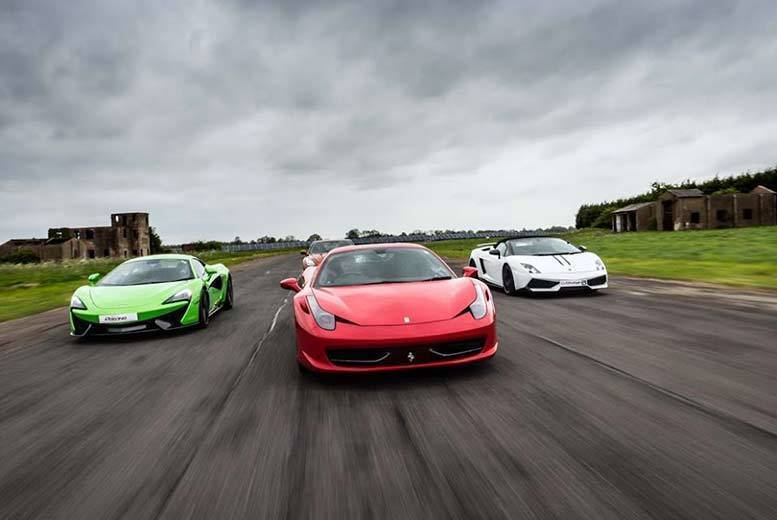 Image of From £39 for a three-mile supercar driving experience, from £59 in two cars, from £79 in three cars or from £99 in four cars from Drivers Dream Days - choose from eleven locations and save up to 43%