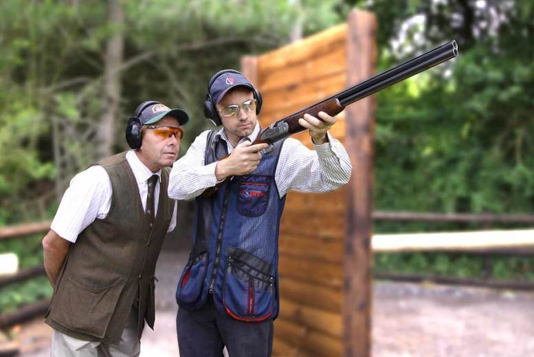 Image of £47.50 for a 90-minute clay pigeon shooting experience for one at Adventure 001. £94.50 for two people - choose from ten locations