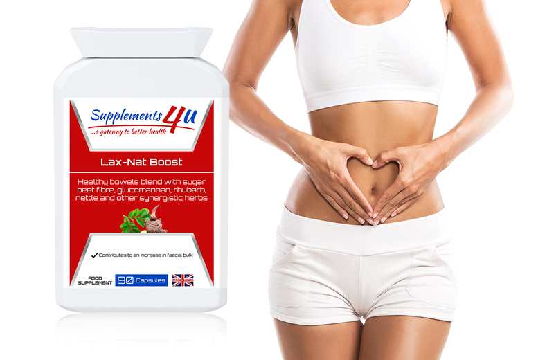 ?9.99 instead of ?32.99 for a three-month supply* of Lax-Nat boost supplement capsules from Supplements4u - save 70%