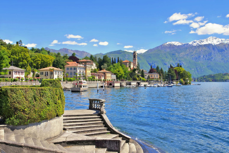 Image of A Lake Como, Italy hotel stay with return flights from five airports. From £159pp for two nights, from £229pp for three nights, from £289pp for four nights, from £349pp for five nights, or from £439pp for seven nights - save up to 22%