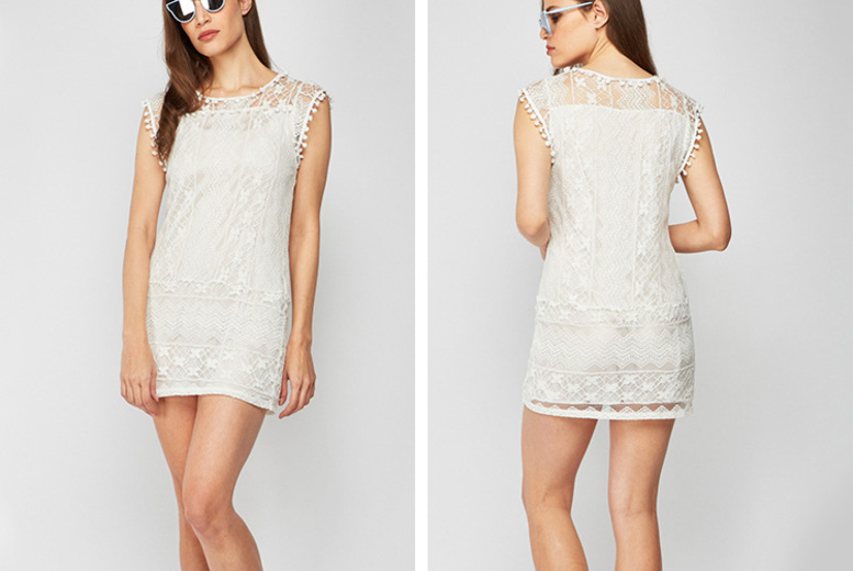 Image of £1.99 instead of £16 for a white lace dress from Cascabelle - save 88%