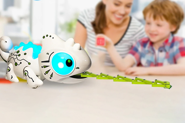 Image of £21.99 instead of £56 for a children's 2.4GHz RC remote control chameleon toy from Wishwhooshoffers – save 61%