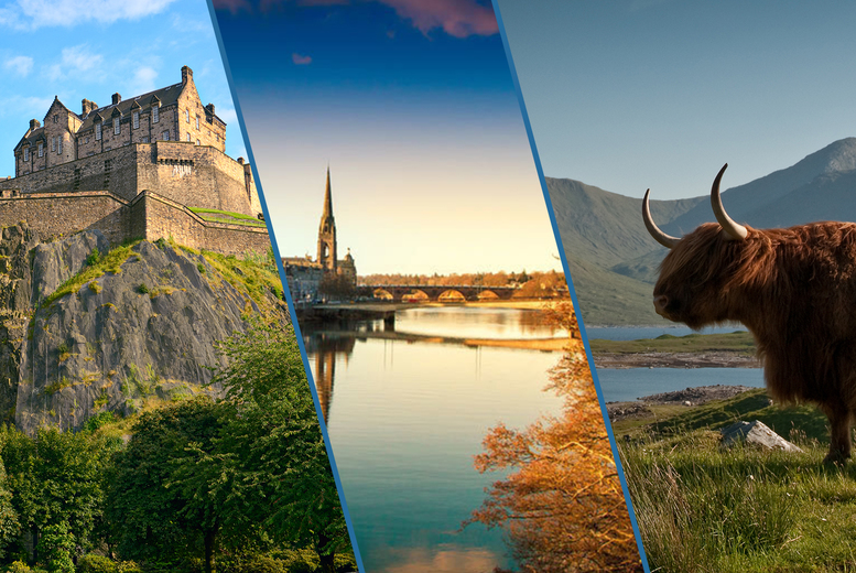 Image of £233 for a three-night Scottish staycation for two people including a one-night stay at Mercure Edinburgh Princes Street, a one-night stay at Mercure Perth and a one-night stay at Mercure Inverness - save up to 51%