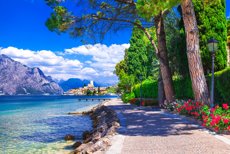 Image of A Lake Garda, Italy hotel stay with breakfast and return flights from five airports. From £99pp for two nights, from £119pp for three nights, from £149pp for four nights, or from £189pp for five nights - save up to 20%