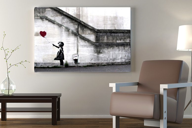 Image of From £4.99 for a Banksy canvas - choose from 51 designs from Fab Deco Ltd - Deco Matters - save up to 92%
