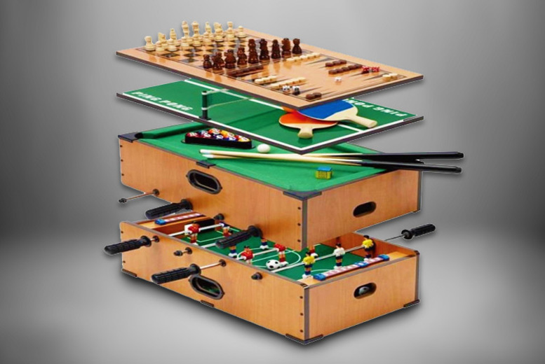 Image of £24.99 instead of £49.99 for a 5-in-1 kids' table-top games table from Eurotrade - save 50%