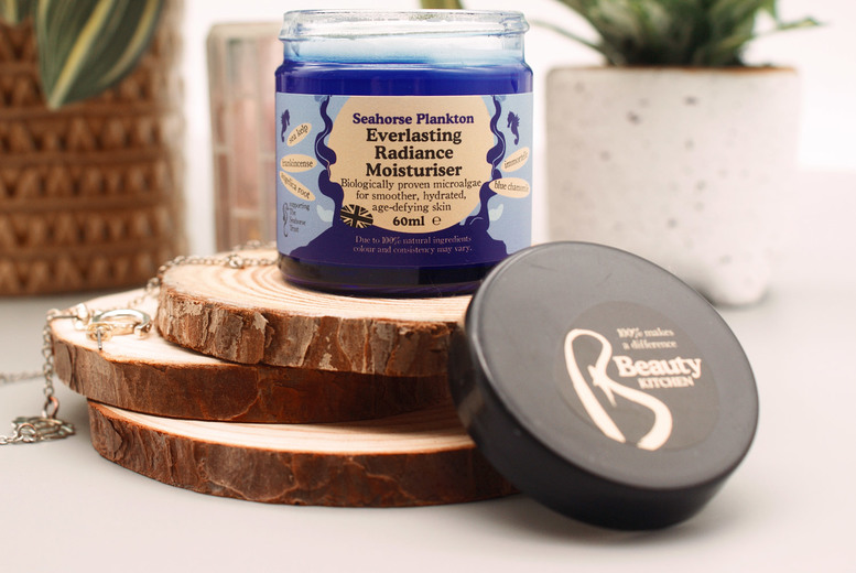 ?9.99 instead of ?19.99 for a 60ml tub of everlasting radiance seahorse plankton facial moisturiser from Beauty Kitchen - save 50%