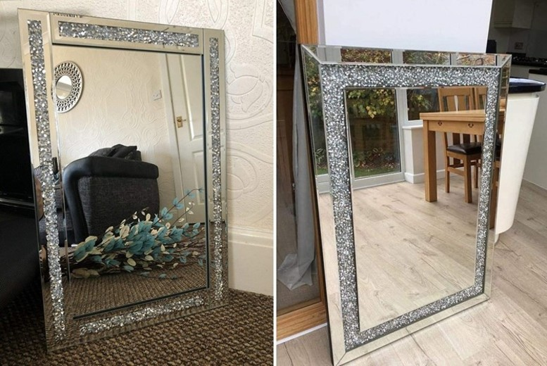 Image of From £39 for a diamante wall mirror from Discounted Price LTD T/A Salt Lamps-UK