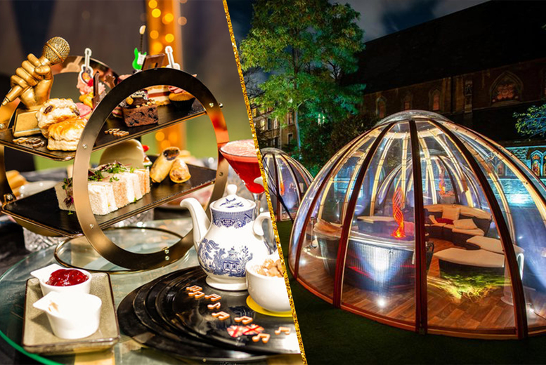 Image of £30 instead of £45 for a luxury private pod afternoon tea for one with a glass of bubbly at Crowne Plaza London Kensington - save 33%
