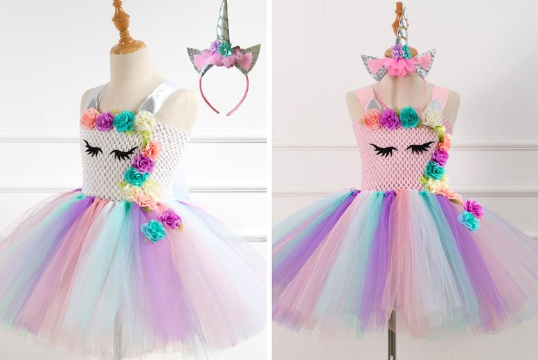 Image of £14 instead of £39.99 for a unicorn princess dress in ages 2-12 from Topgoodchain - save 65%