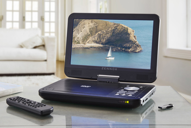 Image of £84.99 instead of £149.99 for a Zennox portable DVD player and screen from CJ Offers – save 43%