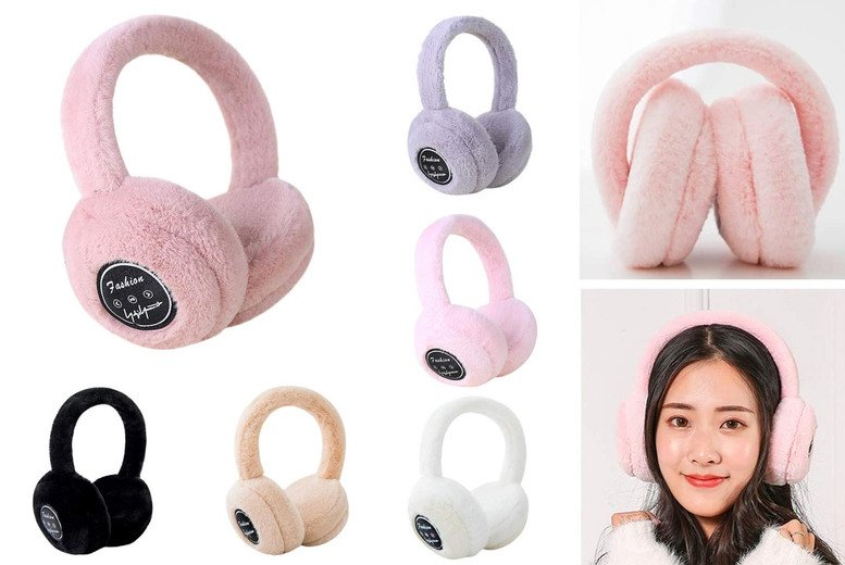 ?9.99 for a 2-in-1 fluffy wireless Bluetooth earmuff headphones, choose from five colours from MagicTrend