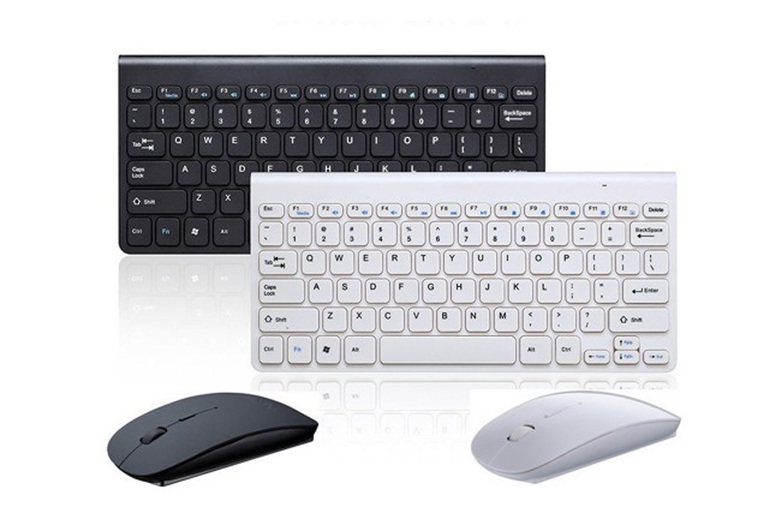 Image of £12 instead £35.99 for a wireless keyboard and mouse in white or black from CNDIRECT BIZ - save 67%