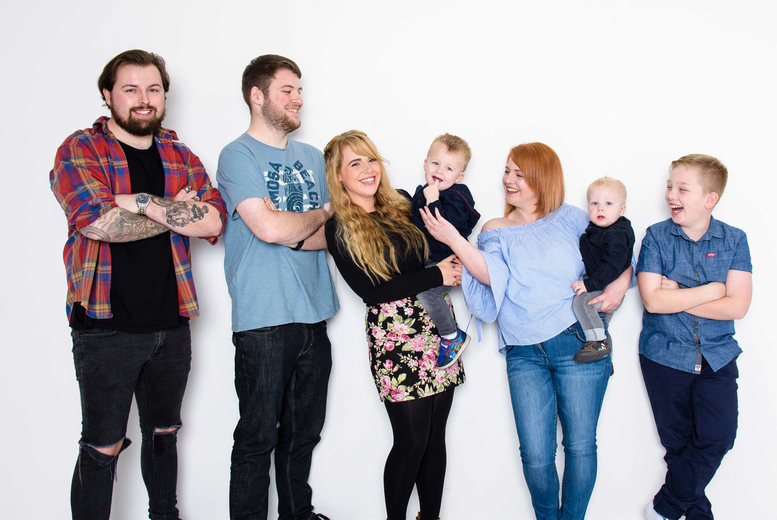 """Image of £9 instead of £50 for a family photoshoot for up to 20 people and one 6""""x 4"""" print from Fulton Studios, Blackwood - save 82%"""