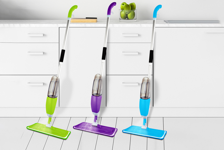 Image of £8.99 instead of £19.99 for a spray mop, or £10.99 for a spray mop with three replacement cloths from QDSO! - save 55.03%