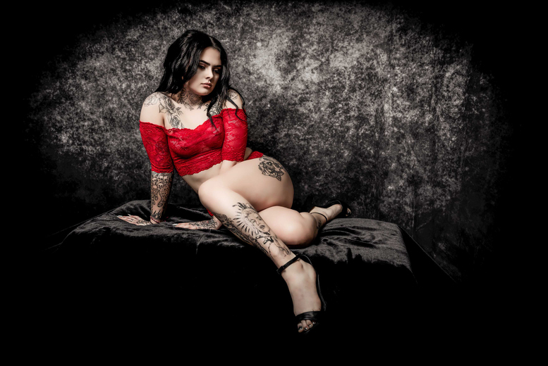 """Image of £9 for a boudoir photoshoot at Fulton Studios, Blackwood including one 7"""" x 5"""" framed print"""