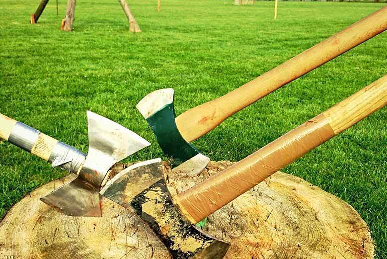 Image of £17 for a one-hour axe throwing experience for one person at Firefly Activities, Kent. £34 for two-people