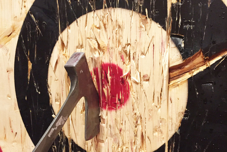 Image of £20 instead of £35 for a one-hour axe throwing experience for one person at Joe's Bows Country Sports, £38 for two people or £74 for four people – save up to 43%